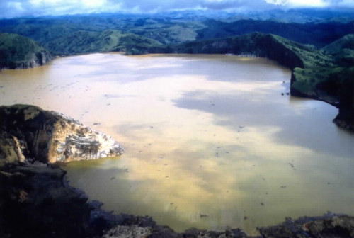 Photo du Lac Nyos au Cameroun.