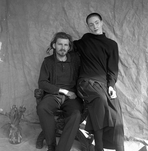 Photo de Lisa Gerrard et Brendan Perry (Dead Can Dance) à Londres en 1989.
