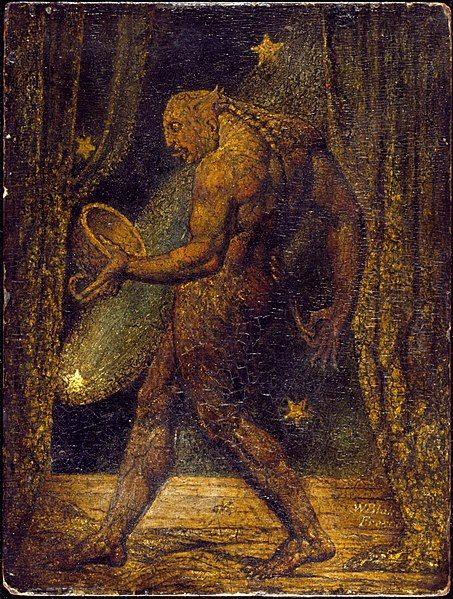 Peinture William Blake : The Ghost of a Flea (Le fantôme d'une puce)